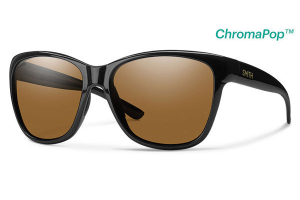 Smith - Ramona Black Sunglasses, ChromaPop Polarized Brown Lenses