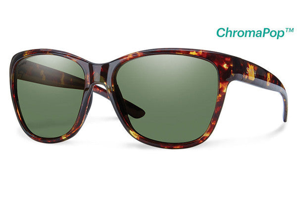 Smith - Ramona Tortoise Sunglasses, ChromaPop Polarized Gray Green Lenses
