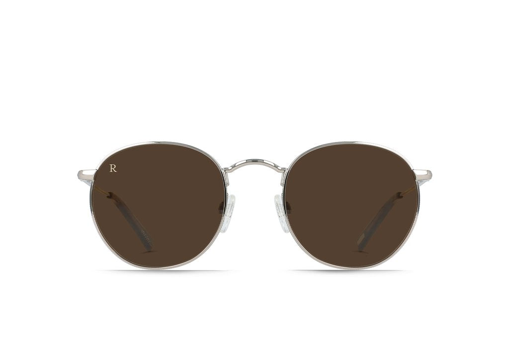 Raen - Benson 48mm Ridgeline Black Tan Sunglasses / Vibrant Brown Lenses