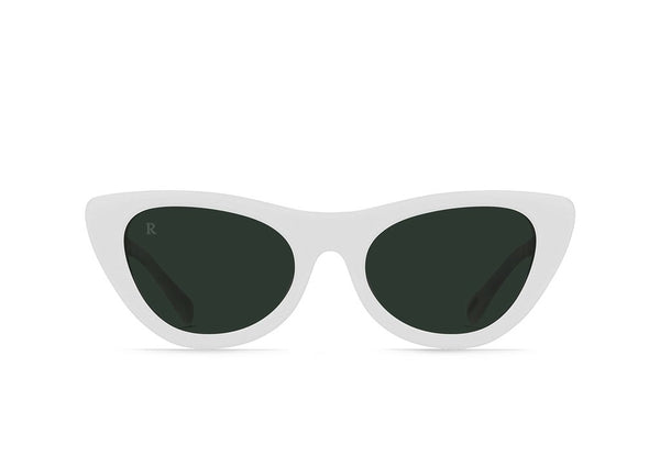Raen - Flora Peroxide Sunglasses / Green Lenses