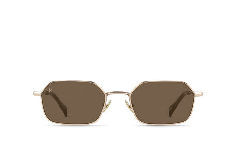 Raen - Hewes Summer Gold Sunglasses / Americano Vibrant Brown Lenses