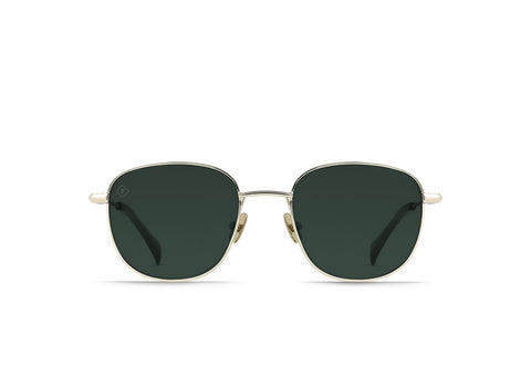 Raen - Morrow Light Gold Moss Sunglasses / Green Polarized Lenses