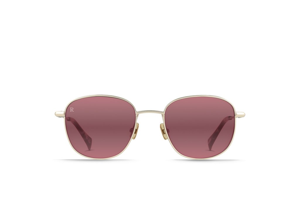 Raen - Morrow Satin Japanese Gold Tortoise Sunglasses / Mirrored Sherry Lenses