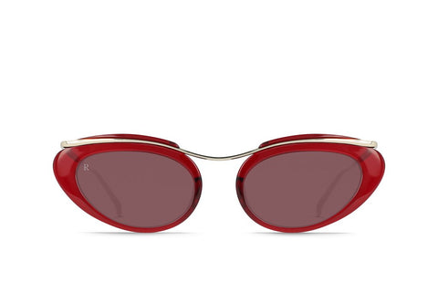 Raen - Musing Summer Gold Ruby Red Sunglasses / Plum Lenses
