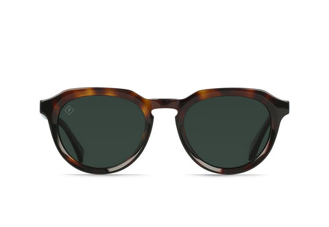 Raen - Sage Kola Tortoise Sunglasses / Green Polarized Lenses