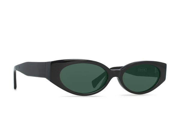 Raen - Tounge Black Sunglasses / Cool Green Lenses