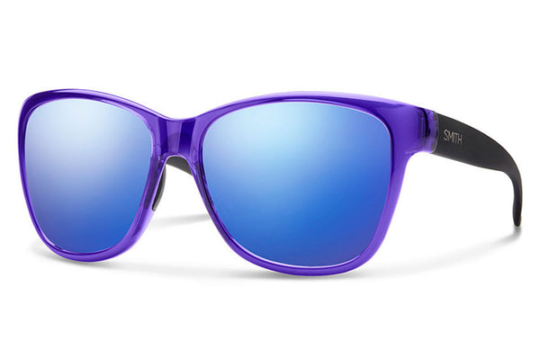 Smith - Ramona Crystal Ultraviolet - Matte Black Sunglasses, Blue Flash Mirror Lenses
