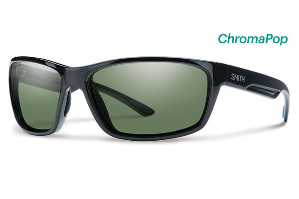 Smith - Redmond Black Sunglasses, ChromaPop Polarized Gray Green Lenses