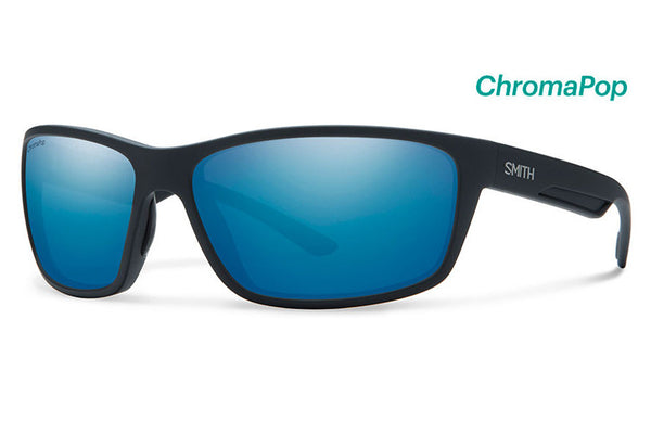 Smith - Redmond Matte Black Sunglasses, ChromaPop Polarized Blue Mirror Lenses