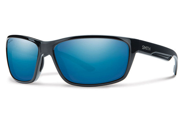 Smith - Redmond Black Sunglasses, Techlite Polarized Blue Mirror Lenses