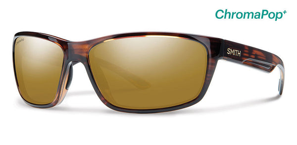 Smith Redmond Tortoise Sunglasses, ChromaPop+ Polarized Bronze Mirror Lenses