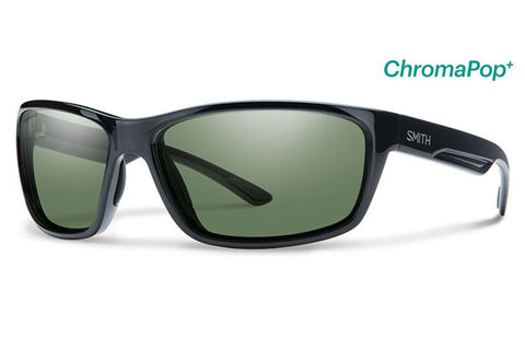 Smith - Redmond Black Sunglasses, ChromaPop+ Polarized Gray Green Lenses