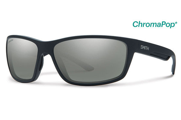 Smith - Redmond Matte Black Sunglasses, ChromaPop+ Polarized Platinum Lenses