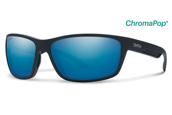 Smith - Redmond Matte Black Sunglasses, ChromaPop+ Polarized Blue Mirror Lenses