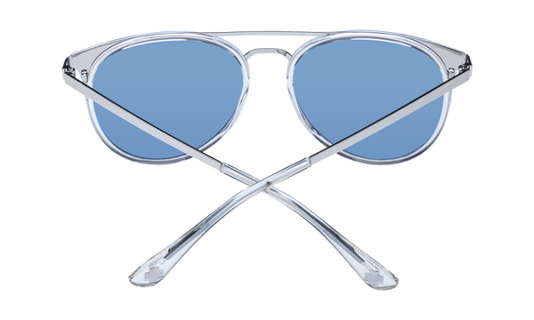 Spy - Toddy Crystal Silver Sunglasses / Light Blue Lenses