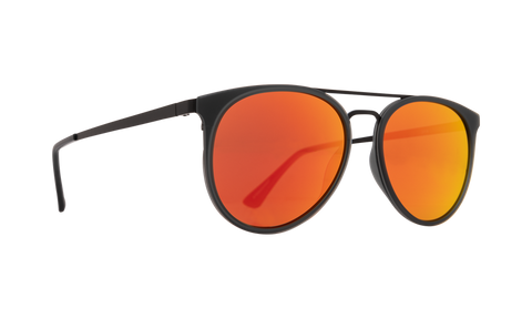 Spy - Toddy Matte Trans Gray Matte Black Sunglasses / Bronze Red Orange Mirror Lenses