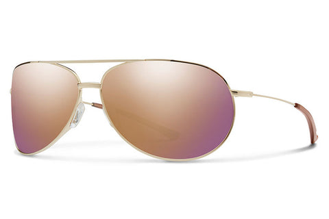 Smith - Rockford Gold Sunglasses, Rose Gold Mirror Lenses