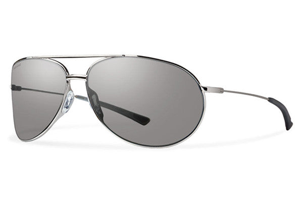 Smith - Rockford Silver Sunglasses, Polarized Platinum Lenses