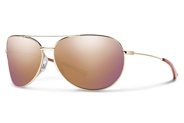 Smith - Rockford Slim Gold Sunglasses, Rose Gold Mirror Lenses