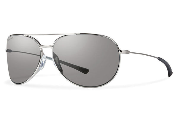 Smith - Rockford Slim Silver Sunglasses, Polarized Platinum Lenses