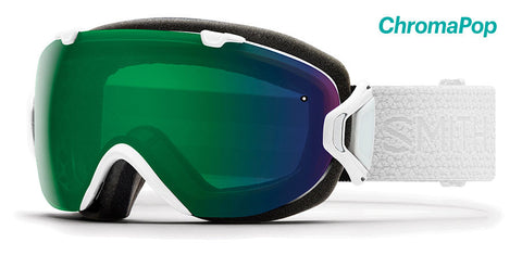 Smith I/OS White Mosaic Snow Goggles / ChromaPop Everyday Green Mirror Lenses