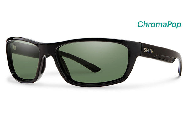 Smith - Ridgewell Black Sunglasses, ChromaPop Polarized Gray Green Lenses