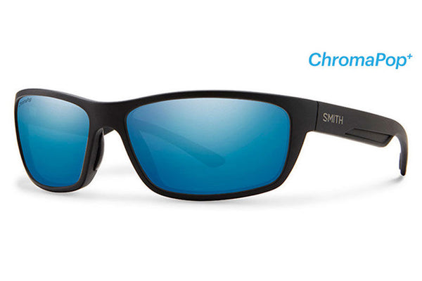 Smith - Ridgewell Matte Black Sunglasses, ChromaPop Polarized Blue Mirror Lenses