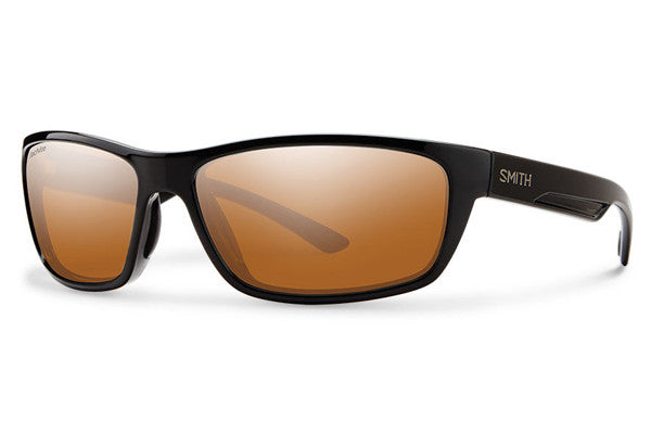 Smith - Ridgewell Black Sunglasses, Techlite Polarchromic Copper Mirror Lenses