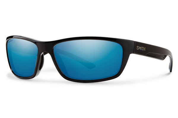 Smith - Ridgewell Black Sunglasses, Techlite Polarized Blue Mirror Lenses