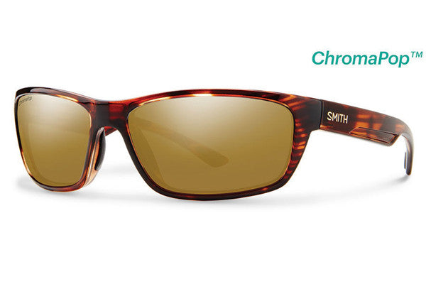 Smith - Ridgewell Tortoise Sunglasses, ChromaPop+ Polarized Bronze Mirror Lenses