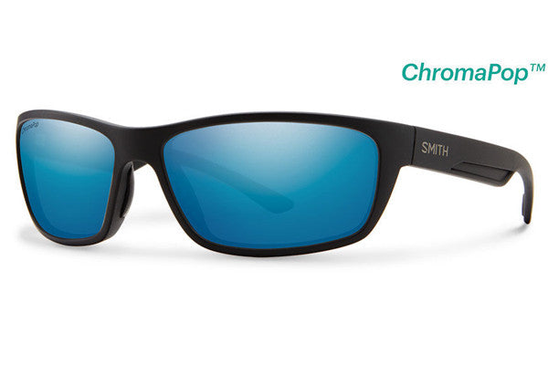 Smith - Ridgewell Matte Black Sunglasses, ChromaPop+ Polarized Blue Mirror Lenses