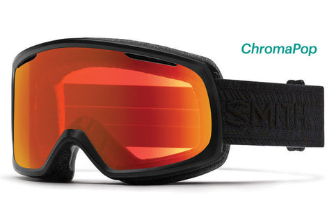 Smith - Riot Asian Fit Black Eclipse Goggles, ChromaPop Everyday Lenses