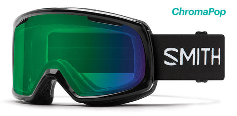 Smith - Riot Black Snow Goggles / ChromaPop Everyday Green Mirror Lenses
