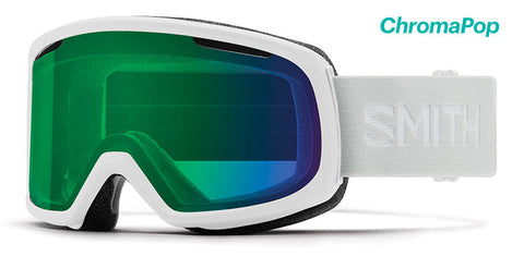 Smith - Riot White Vapor Snow Goggles / ChromaPop Everyday Green Mirror Lenses