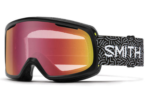 Smith - Riot Black New Wave Goggles, Red Sensor Mirror Lenses