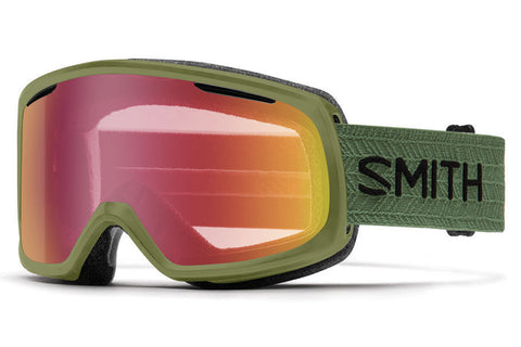 Smith - Riot Olive Goggles, Red Sensor Mirror Lenses