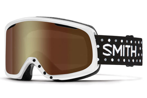 Smith - Riot White Dots Goggles, Gold Sol X Mirror Lenses