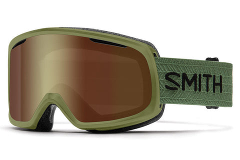 Smith - Riot Olive Goggles, Gold Sol X Mirror Lenses