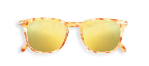 Izipizi - #E Yellow Tortoise Sunglasses / Yellow Mirror Lenses