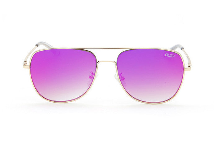 Quay Running Riot Gold / Pink Sunglasses