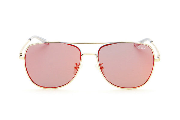 Quay Running Riot Gold / Red Sunglasses
