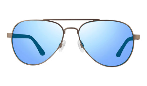 Revo - Raconteur 58mm Gunmetal Sunglasses / Blue Water Lenses