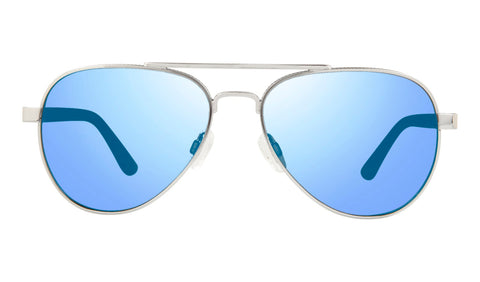 Revo - Raconteur 58mm Chrome Sunglasses / Blue Water Lenses