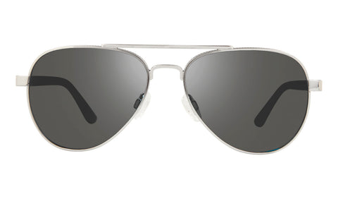 Revo - Raconteur 58mm Chrome Sunglasses / Graphite Lenses