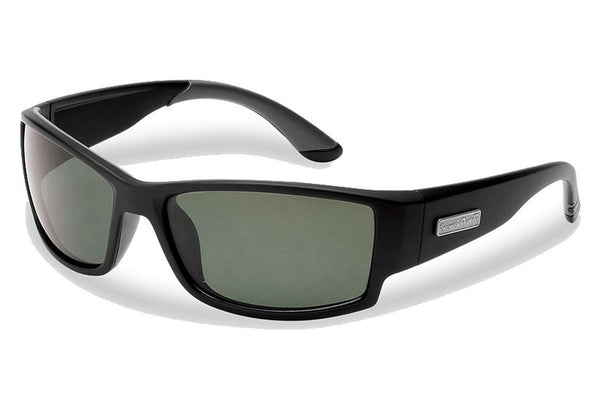 Flying Fisherman - Razor 7717 Matte Black Sunglasses, Smoke Lenses