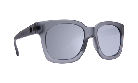 Spy - Shandy 52mm Matte Translucent Gray Sunglasses / Gray Silver Mirror Lenses
