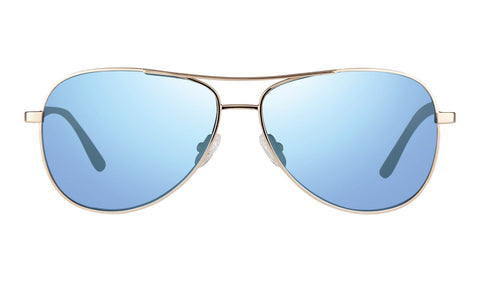 Revo - Relay 59mm Gold Sunglasses / Blue Water Lenses