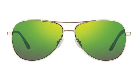 Revo - Relay 59mm Gold Sunglasses / Green Water Lenses