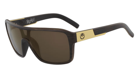 Dragon - Remix Matte Woodgrain Sunglasses / Brown Lenses