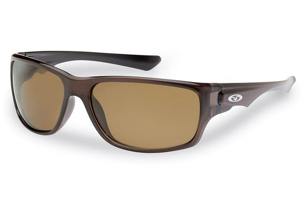Flying Fisherman - Roller 7760 Crystal Brown Sunglasses, Amber Lenses